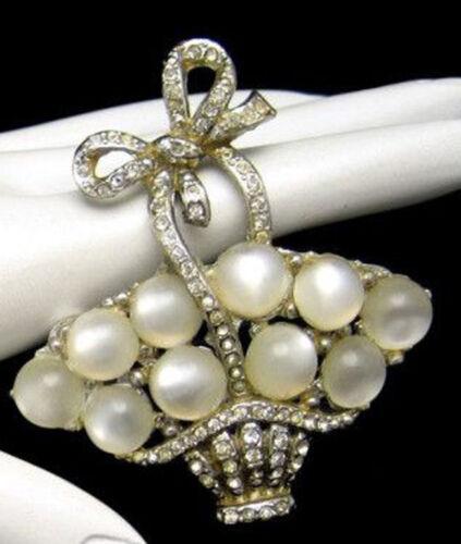 3.25ct ROSE CUT DIAMOND PEARL ANTIQUE VICTORIAN LOOK 925 SILVER BROOCH PIN