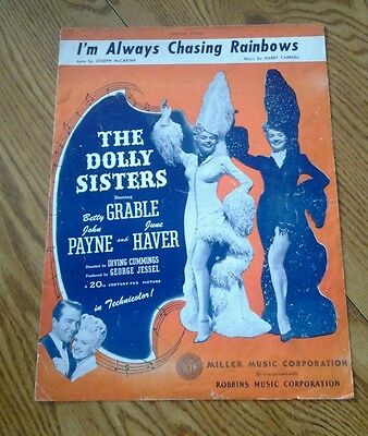 SHEET MUSIC I'M ALWAYS CHASING RAINBOWS THE DOLLY SISTERS