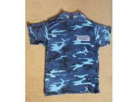 Men's Blue Camo Techno T-Shirt Size Large