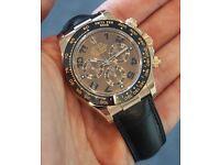 Rolex DAYTONA 116515LN Mens Everose Gold Pink Index Dial Black Ceramic Bezel Watch