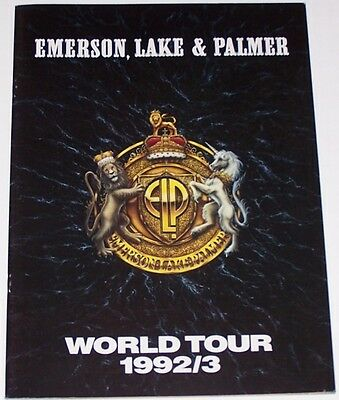 Emerson Lake and Palmer ELP 1992 1993 Tour Book Concert Program EC