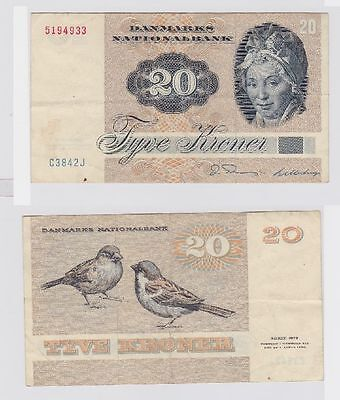 20 Kronen Banknote Dänemark 1972 (119140