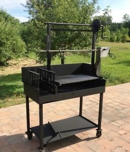 BBQ Grill Custom Made Crank Up down Style