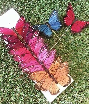 12 Hand Made Poly Monarch Butterfly 2.75