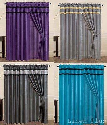 New Black Gray Turquoise Purple Yellow Curtain Panel Window Covering Drapes  (Window Coverings Drapes)