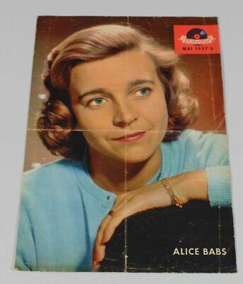 Polydor Faltprospekt With Hit Barometer Panels Papier Advertising V.1957 / S294