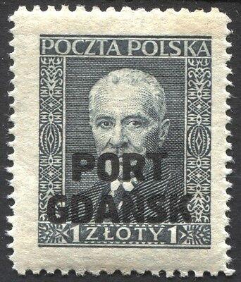 Gesuchte Marke aus Danzig Port Gdansk Mi.Nr. 23 **