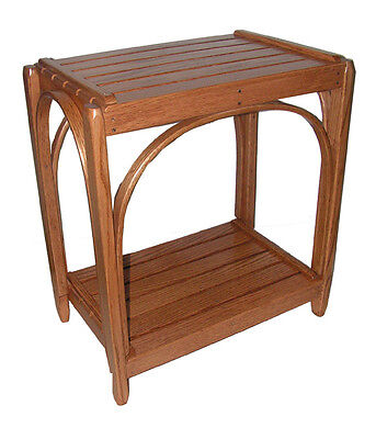Amish Solid Oak Bentwood Slats End Table