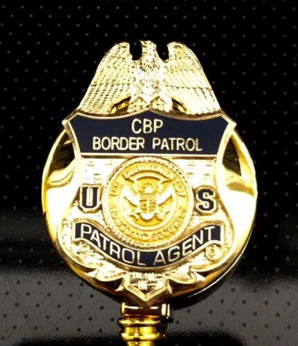 CBP Border Patrol ID Holder Gold Logo on ID Reel
