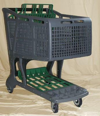 Greygreen Large Plastic Grocery Shopping Carts