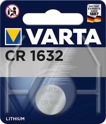 2 x Varta CR 1632 3V Lithium Batterie Knopfzelle 135mAh 6632 im Blister ()