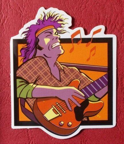 "Sticker Decal Guitar King "" Gloss-Optics Stickerbomb Skateboard Laptop"