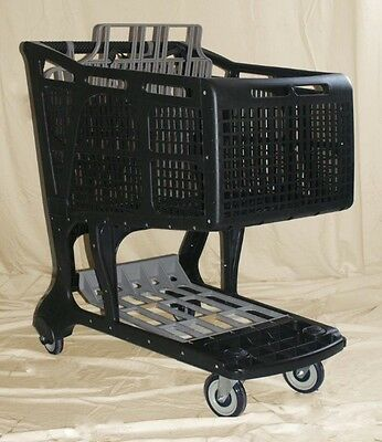 Black/Grey Large Plastic Grocery Shopping Carts