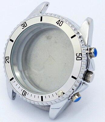 41mm Gehäuse für MIYOTA 0S10 OS10 Chronograph, Bandanstoß wechselbar, NEU - NOS