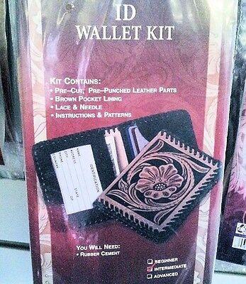 "3-3/8"" x 4"" ID Identification WALLET KIT 4141-00 Tandy Leather Wallets Case Kits"