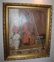 Signed Winterbottom STILL LIFE FLORAL OIL ON BOARD PAINTING