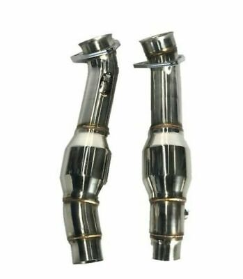 TOP SPEED PRO-1 RESONATED TEST PIPES for 2005-2009 FERRARI F430 COUPE / SPIDER