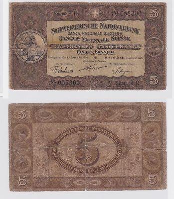 5 Franken Banknote Schweiz 1.Januar 1921 (118592)