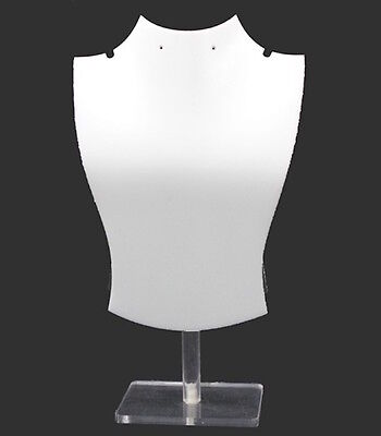 Acrylic Plastic White Necklace Display Set Wearring Holes 3 Pcset