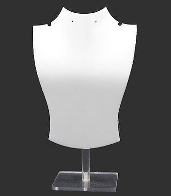 Acrylic Plastic White Necklace Display Set Wearring Holes 3 Pcset