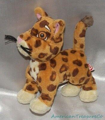 """2010 Ty Beanie Babies Plüsch 6 """" Nick Jr Dora Diego Freund Baby Jaguar mit /"""