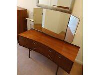 Vintage Mid Century Meredew Dressing Table + Mirror / Sideboard