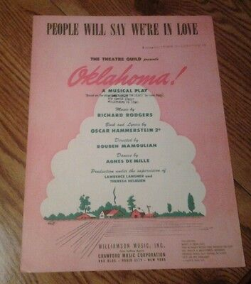 SHEET MUSIC PEOPLE WILL SAY WE'RE IN LOVE FROM OKLAHOMA