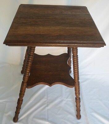 Oak Bed Side Table (Antique Square Oak Bed Side)
