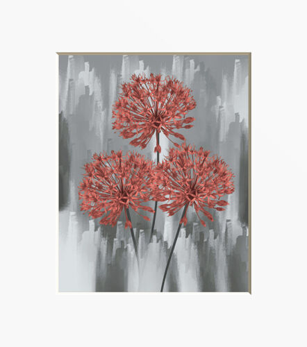 Coral Wall Art Bathroom Bedroom Kitchen Home Decor Matted Artwork Picture