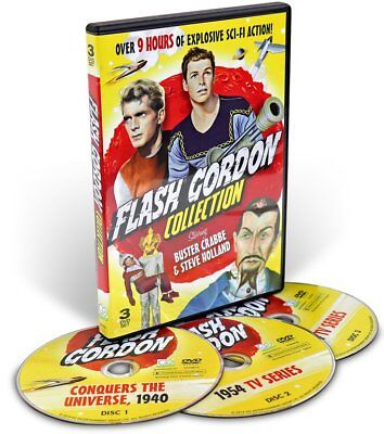 Holland Collection - Flash Gordon Collection Buster Crabbe & Steve Holland (DVD, 3-Disc Set,9+hours)