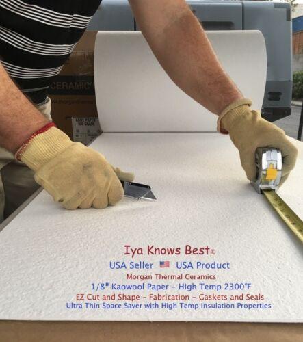"Kaowool 1//8/"" x 7/"" x 36/"" Ceramic Fiber Paper 500 Grade Thermal Ceramics 2300F"