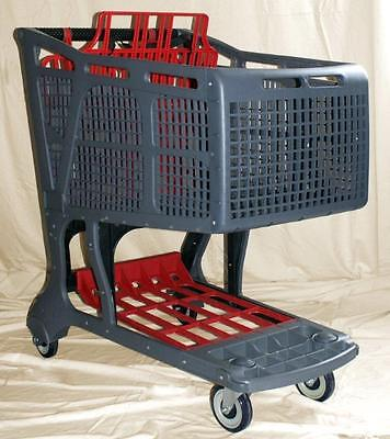Greyred Large Plastic Grocery Shopping Carts