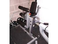 Leg extension/leg curl machine
