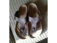 Brown mens birkenstock size 8