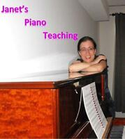 **Back to School Specials** Experienced Piano Teacher