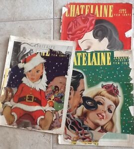 Vintage Chatelaine magazines from 1930's