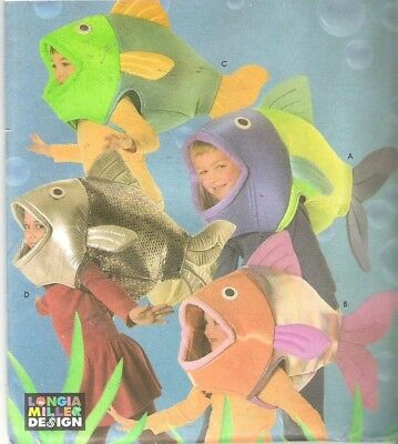 OOP Simplicity 4926 Child's FISH COSTUME Sewing Pattern Nemo - Fish Costume Patterns