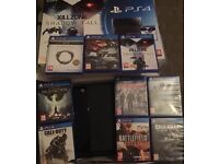 Playstation 4 and 9 games. (No controller)
