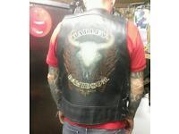 Harley davidson leather waste coat