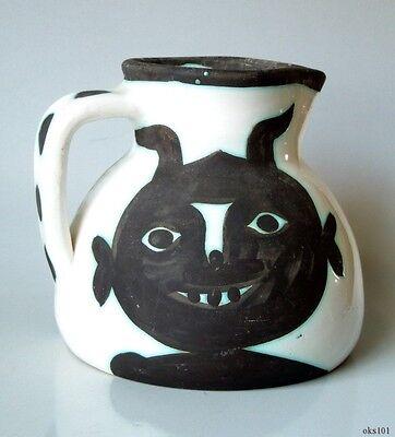 PABLO PICASSO Authentic Madoura Ceramic Têtes PITCHER 1956