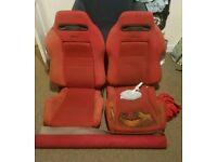 Honda Civic Integra Red Recaro Seats EK9 DC2 Type R