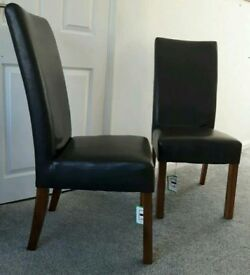2 John Lewis Leather dining chairs: Great conditio