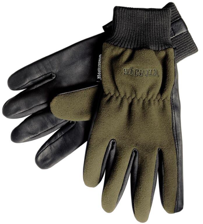 HÄRKILA Handschuhe PRO SHOOTER - Gore-Tex Windstopper Leder oliv