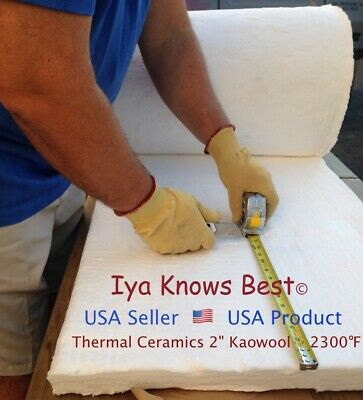 Kaowool 2x12x36 Ceramic Fiber Insulation Blanket 8 Thermal Ceramics 2300f