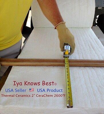 2 Cerachem Ceramic Fiber Insulation Blanket 2600f 8 Thermal Ceramics 24 X 24