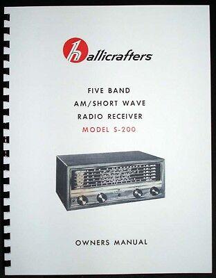 Hallicrafters S-200 5-band Am Shortwave Radio Receiver Manual