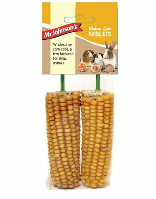 Mr Johnsons Maize Cob Niblets Crunchy Dried Whole Corn Treats Pack of 2