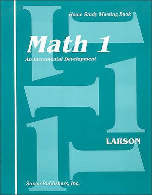 1st Grade Math Books - Grade 1 Saxon Math Home Study Meeting Book Homeschool Student Edition 1st