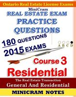 REAL ESTATE OREA EXAM NOTES PRACTICE QUESTIONS 2015