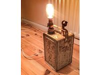 Vintage Oil/paraffin can lamp